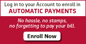 Sign up for Automatic Payments.